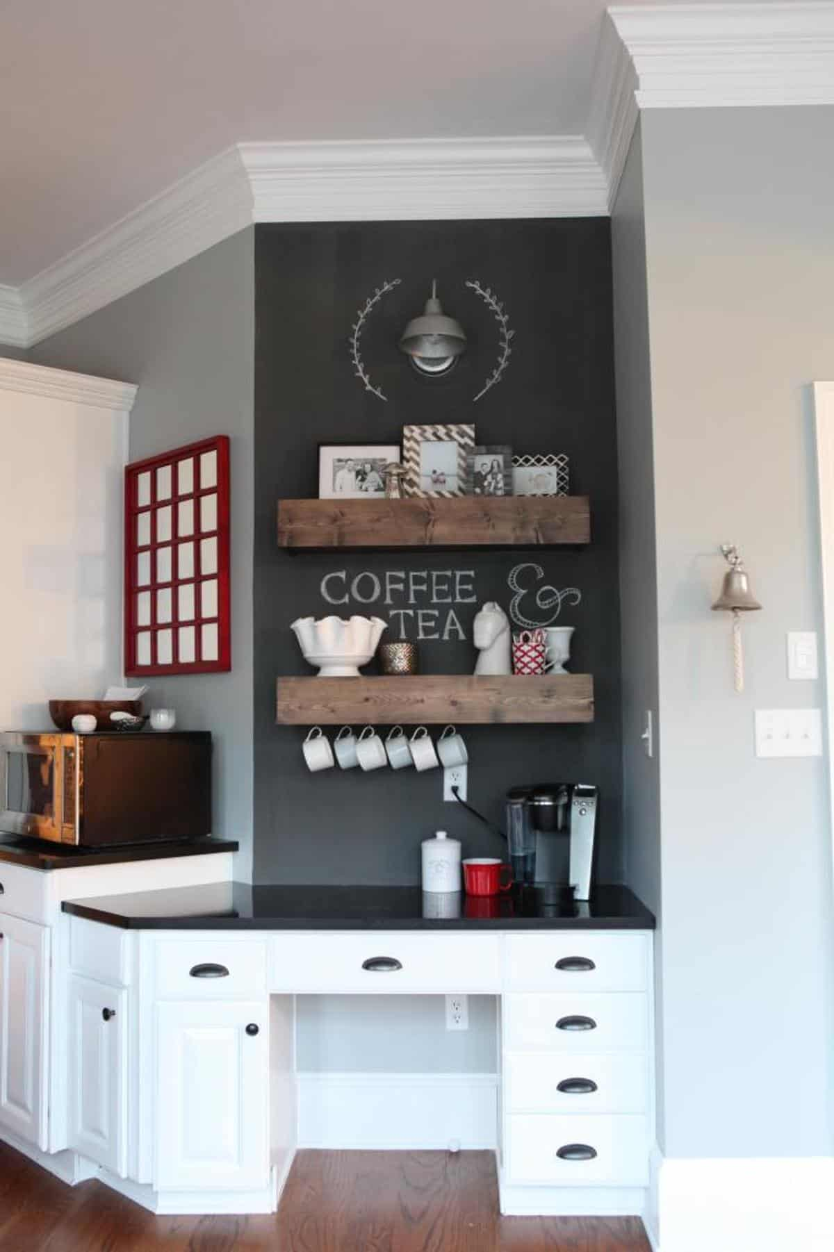 20 Coffee Station Ideas to Make Caffeine Addicts Happy on coffee house kitchen design ideas, kitchen fridge ideas, kitchen coffee center ideas, kitchen decor coffee house, coffee themed kitchen ideas, coffee bar ideas, kitchen wine station, kitchen couch ideas, kitchen buffet ideas, kitchen bookshelf ideas, kitchen baking station, kitchen library ideas, kitchen beverage station, martha stewart kitchen ideas, country living 500 kitchen ideas, great kitchen ideas, kitchen bathroom ideas, kitchen designs country living, coffee break set up ideas, kitchen cabinets,