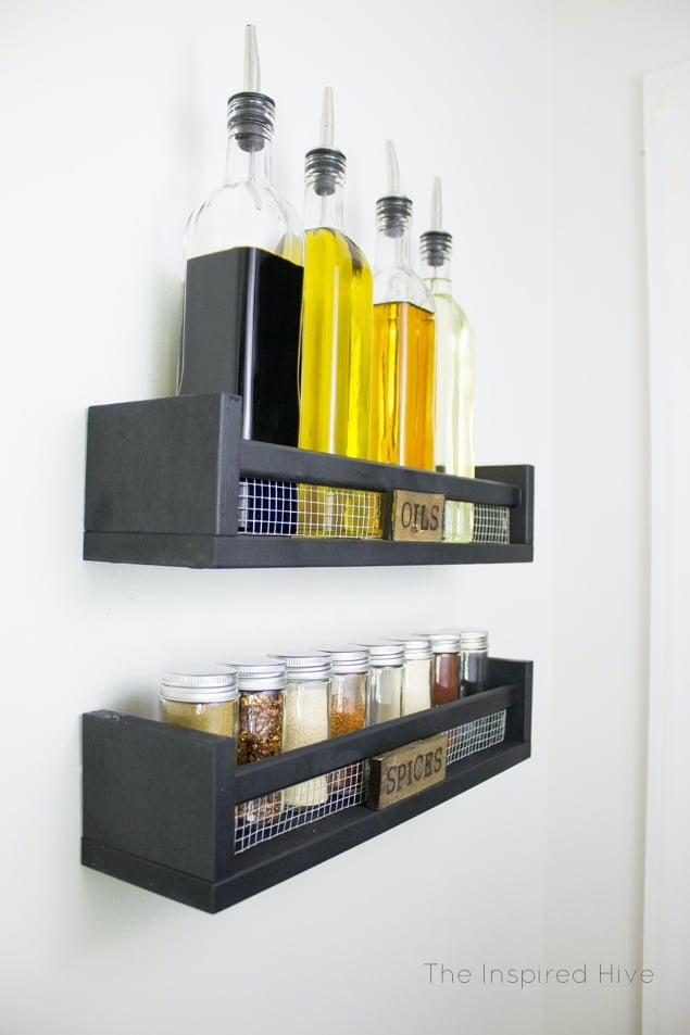 Wall Shelves with Chicken Wire