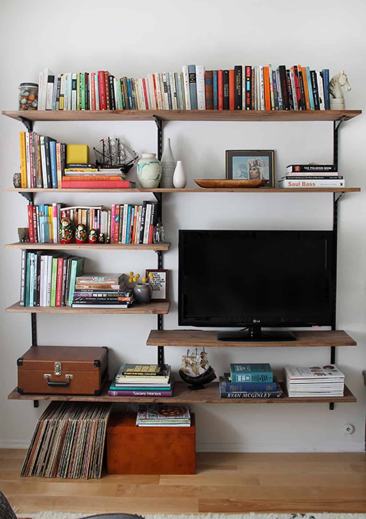 DIY Shelves for Entertainment Center