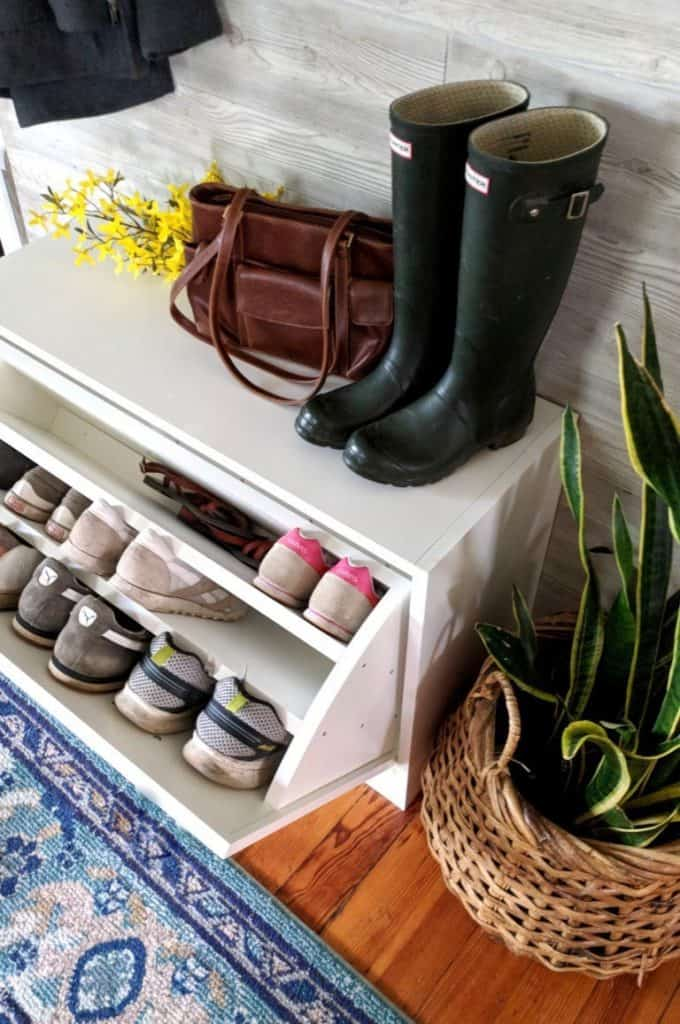 DIY Shoe Cabinet with Oval Design