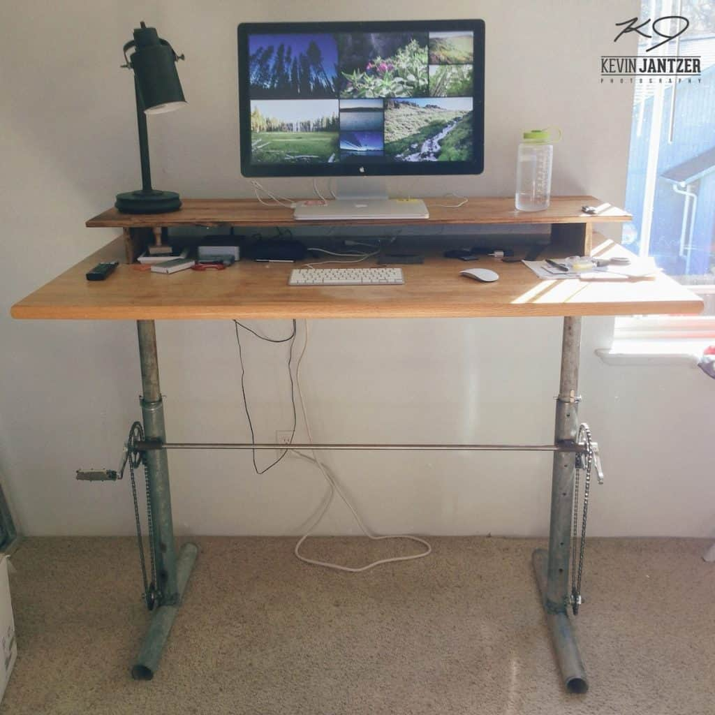 Industrial Adjustable Standing Desk