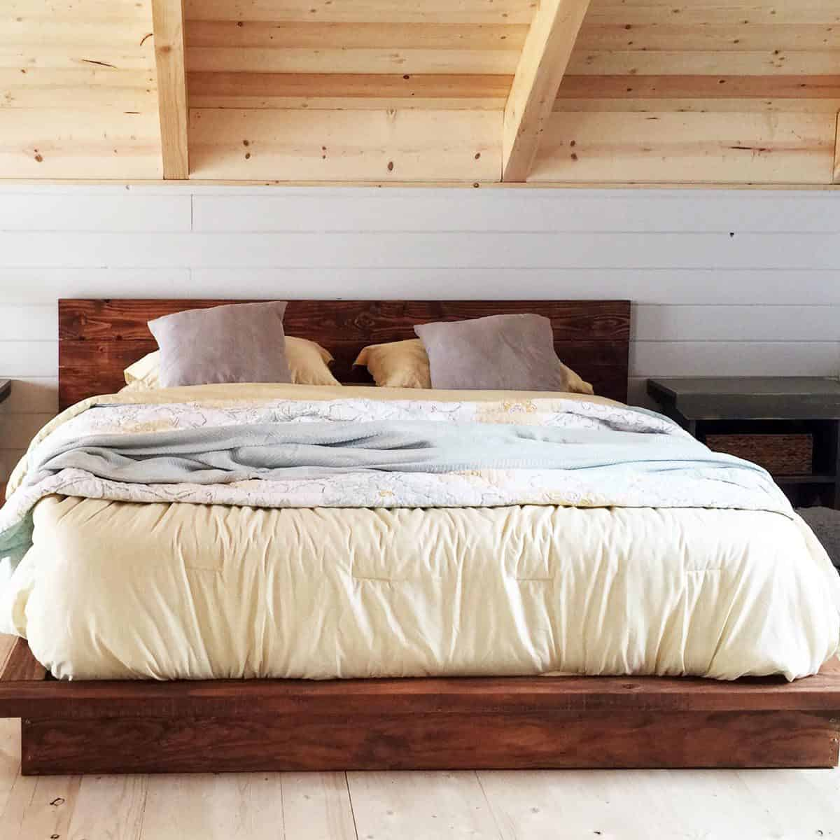 Low Platform Bed for Loft Room