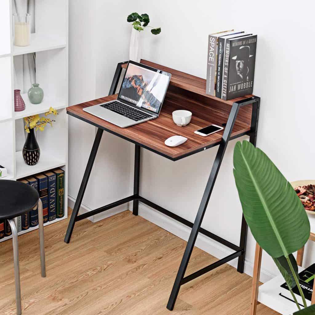 Tangkula 2 Tier Compact Computer Desk