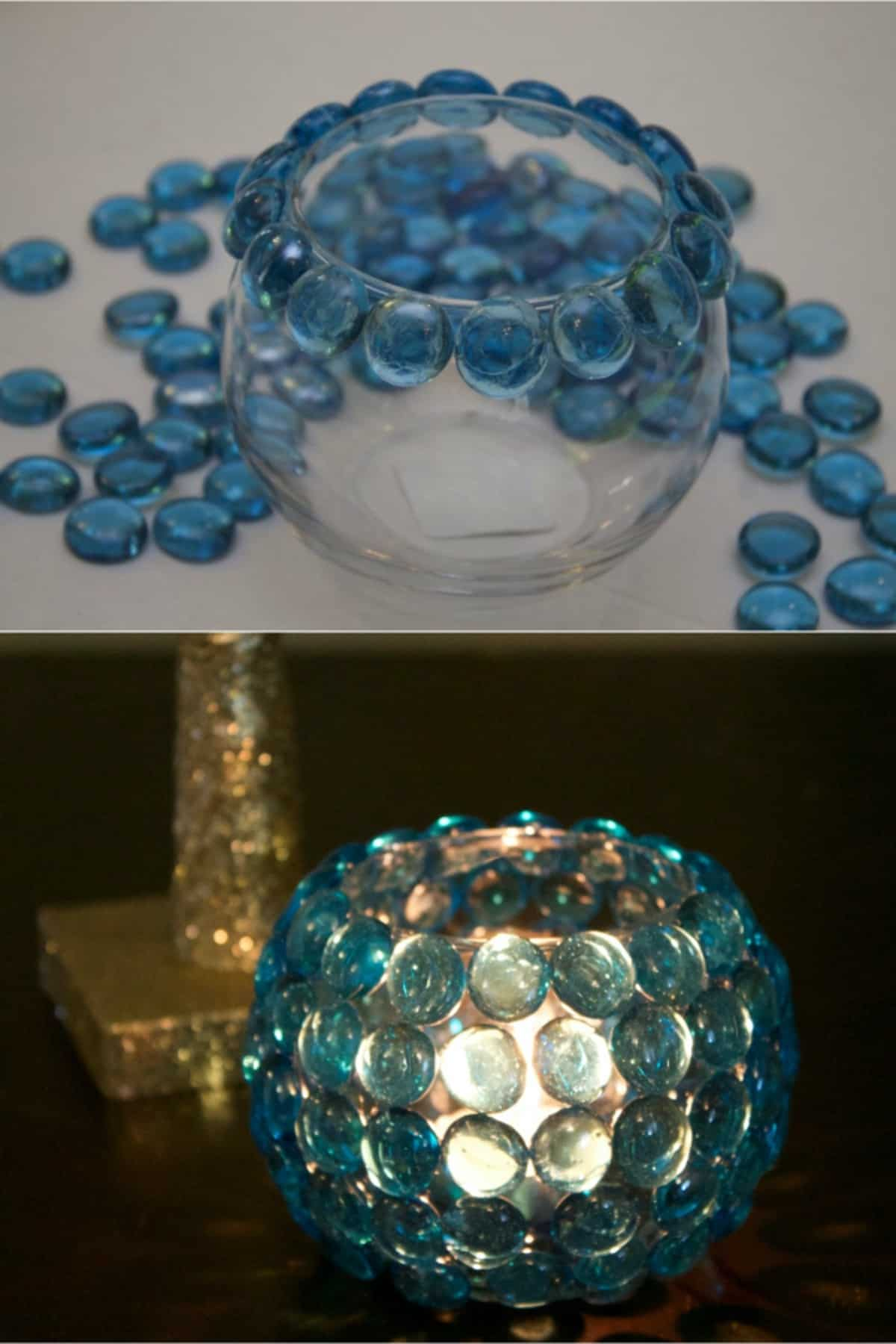 The Glass Bead Candle Holder