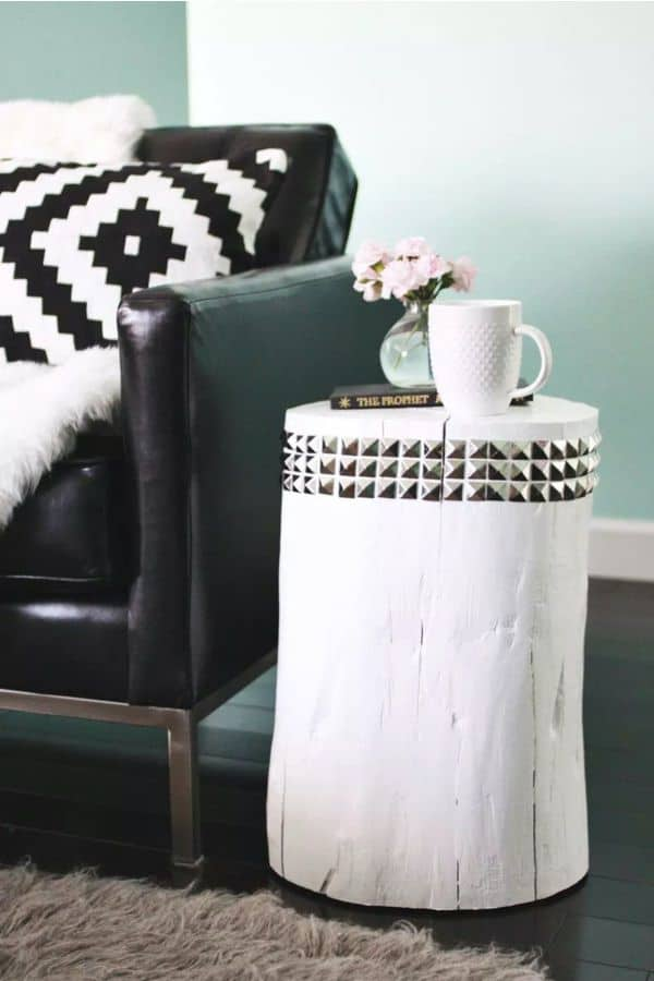 The Studded Stump Side Table
