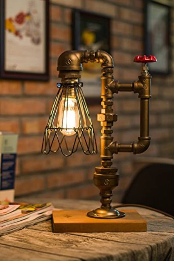 Kettle Style Pipe Desk Lamp