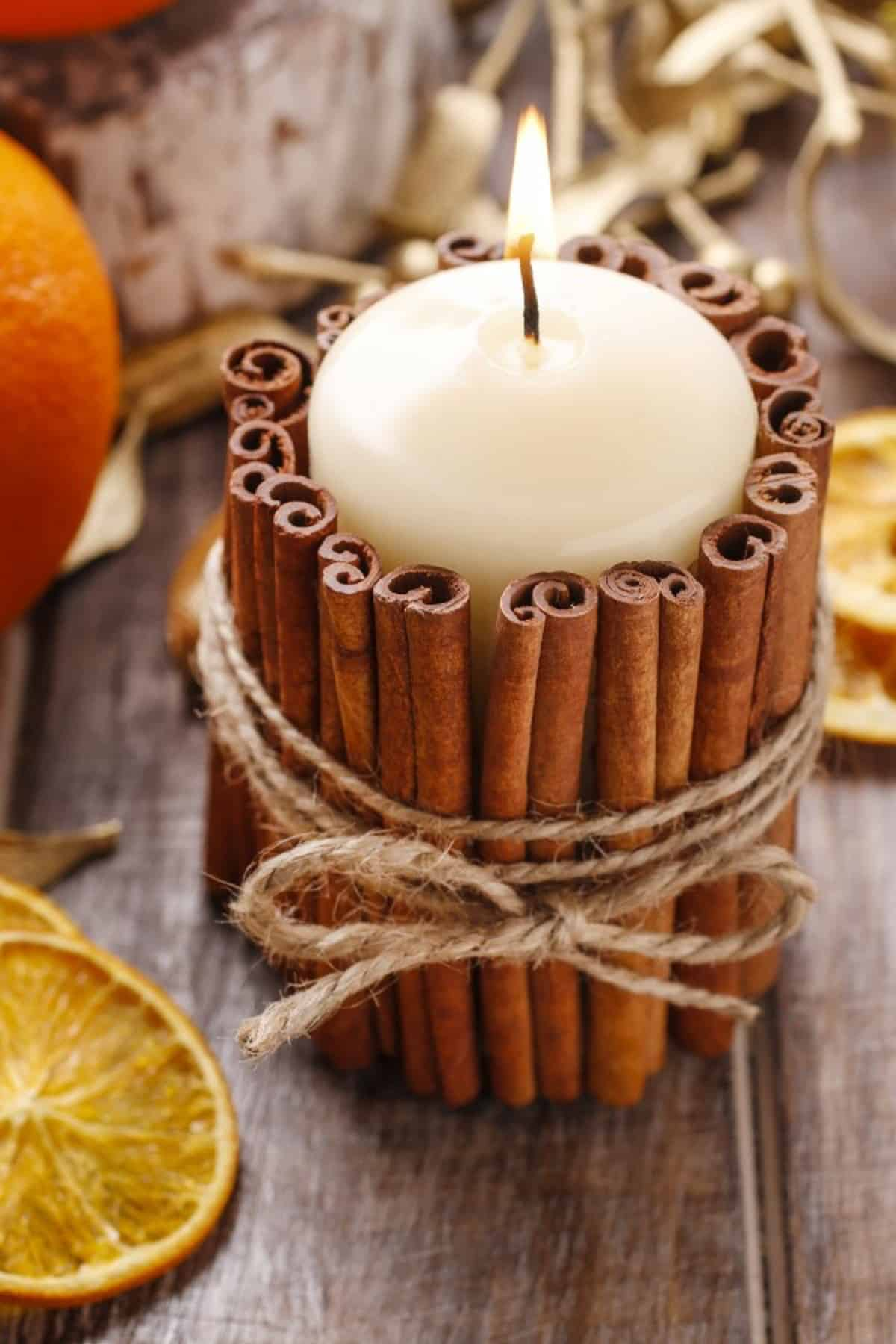 The Cinnamon Candle Holder
