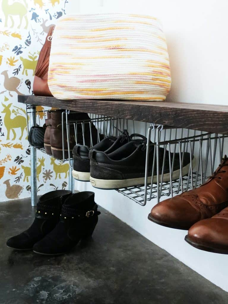 Floating Metal Shoe Organizers