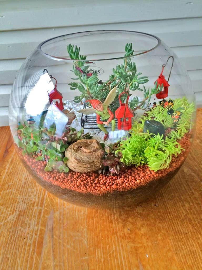 Glass Bowl Terrarium Fairy Garden