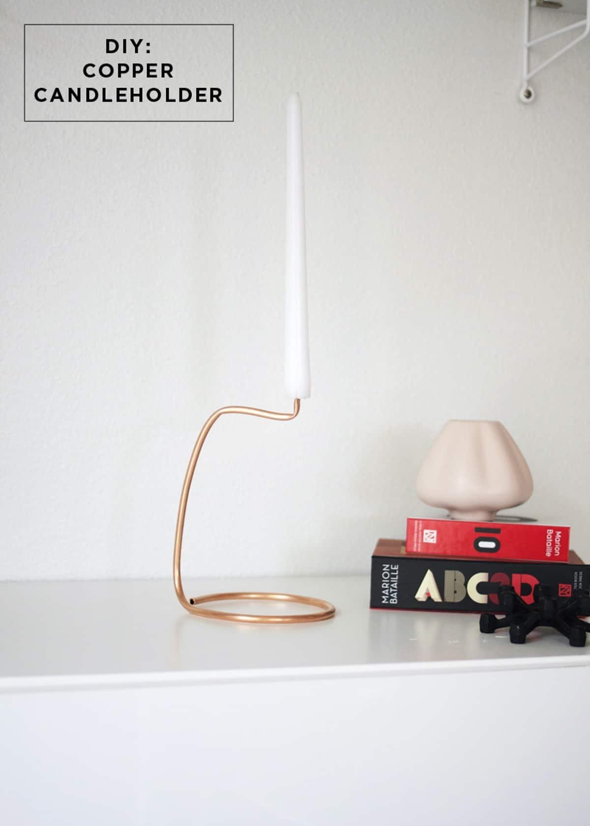 The Futuristic Copper Candle Holder