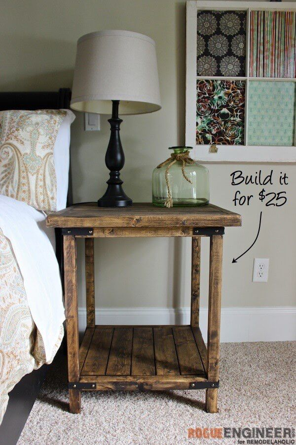 The Rustic Square Side Table