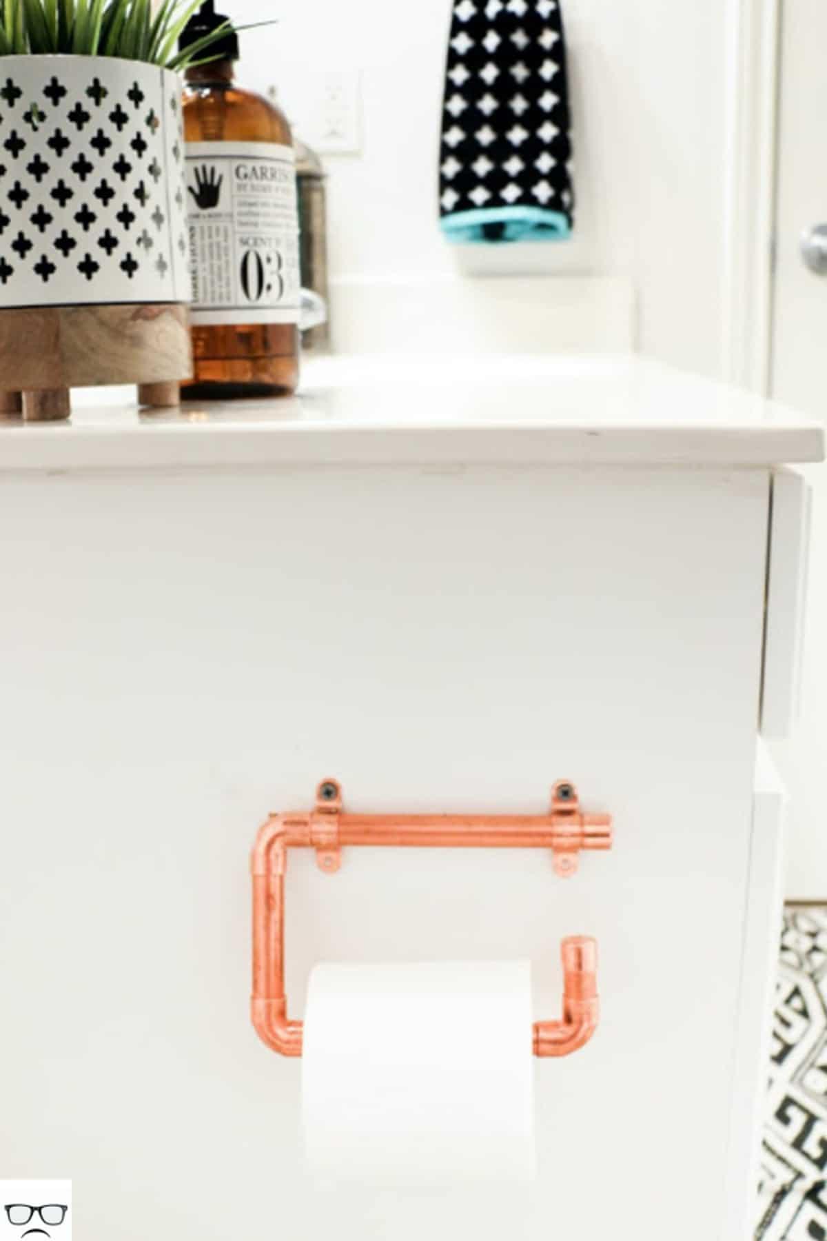Copper Pipe Paper Holder
