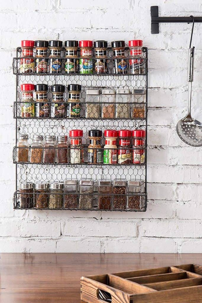 Farmhouse-style Wire Spice Rack
