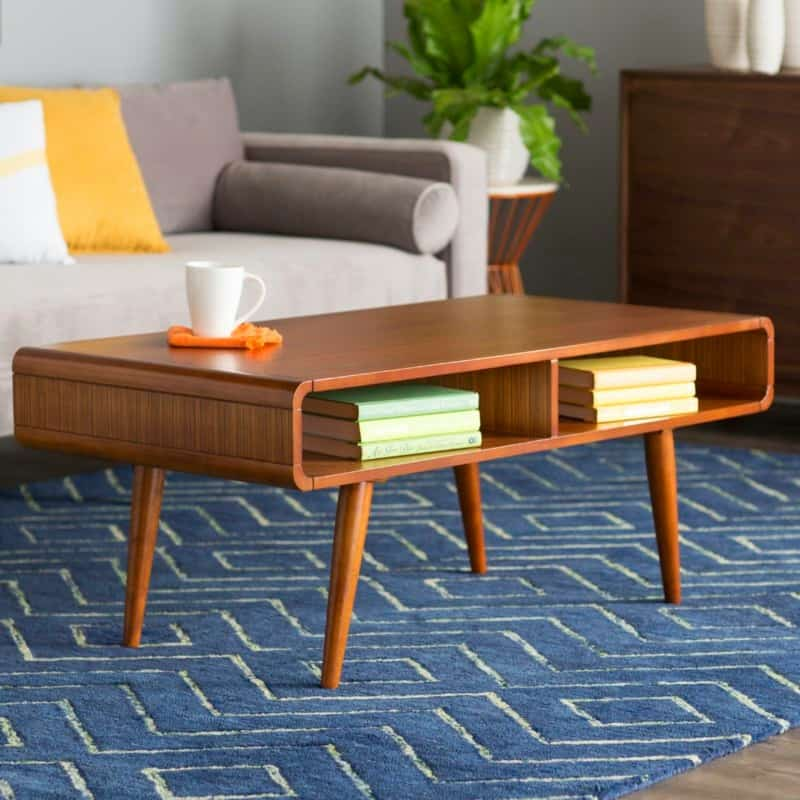 Modern Coffee Table with Open Drawers