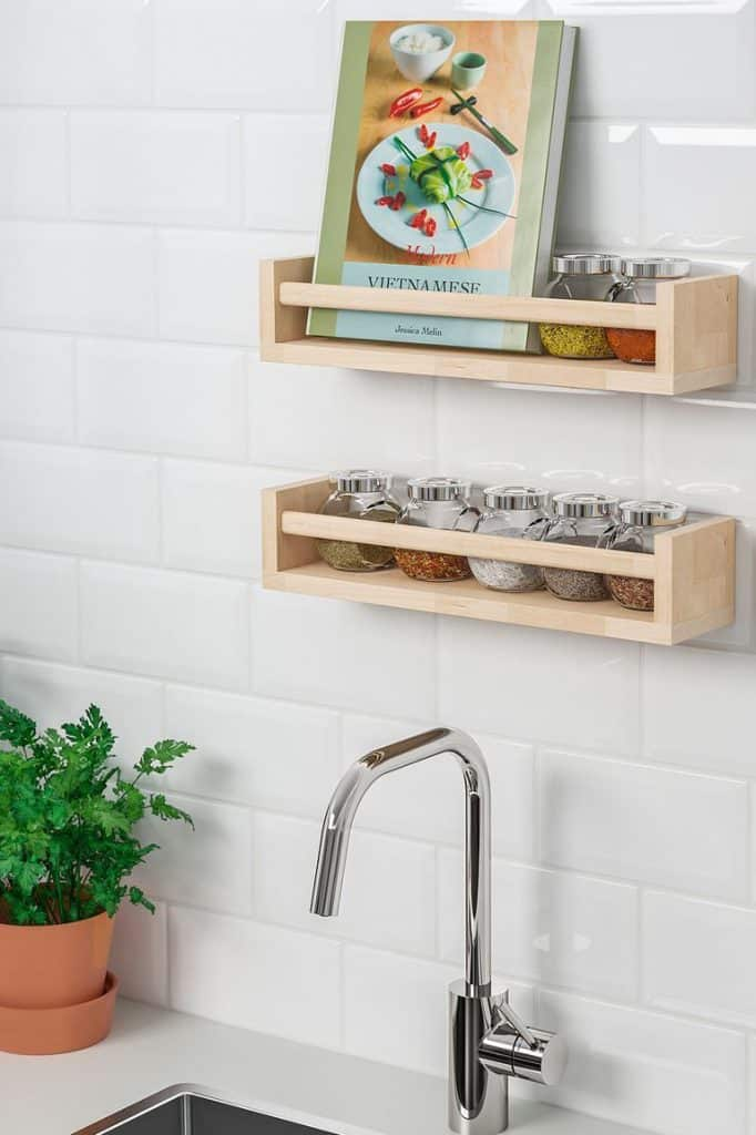 Simple Bekvam Racks from Solid Wood