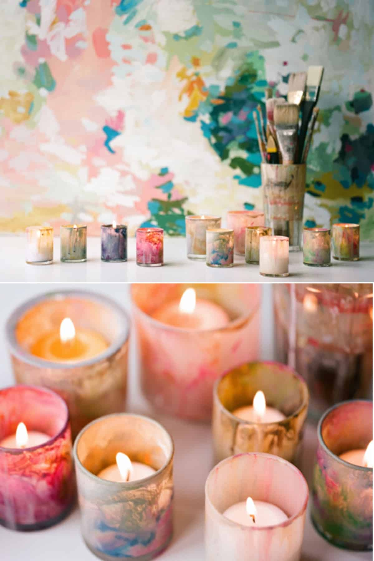 The Colorful Votive Candle Holder