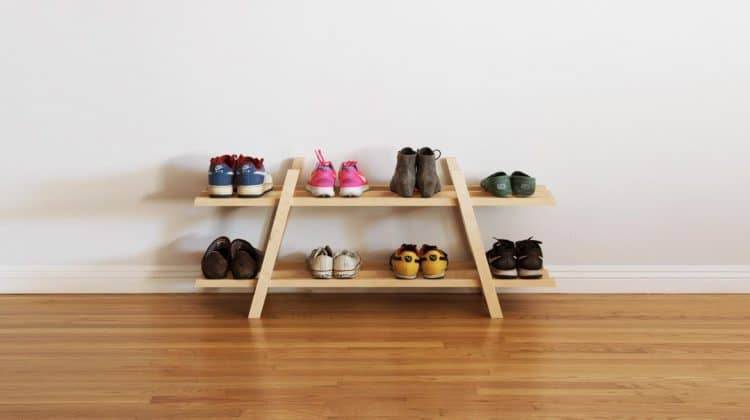 diy shoe rack storage