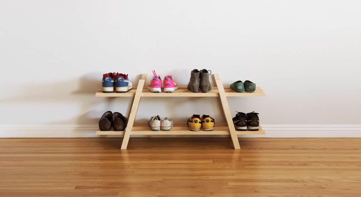 diy shoe rack storage