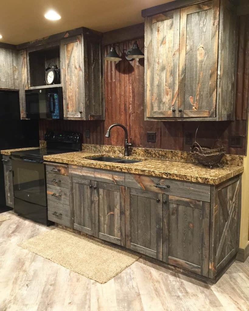 Weathered Wooden Cabinets (by. @avisiontoremember)