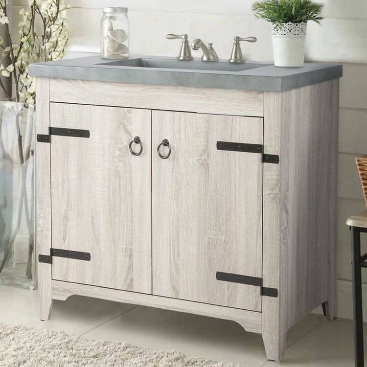Matching Color Rustic Vanity (by. wayfair.com)