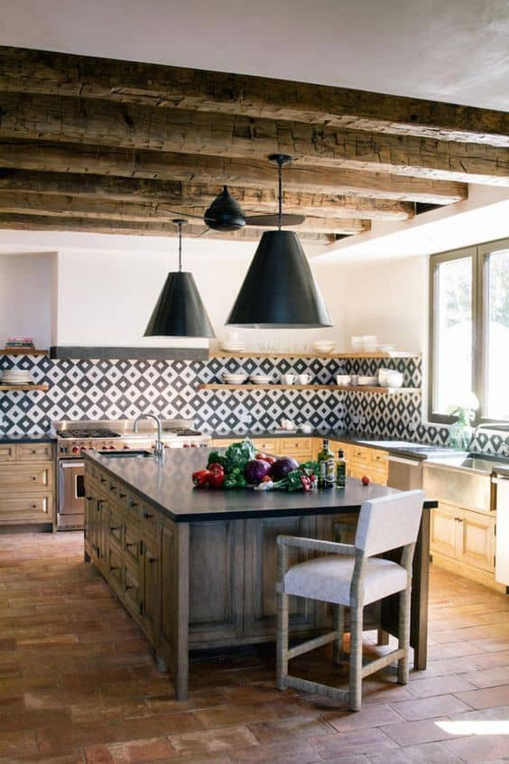 Rustic Spanish Kitchen and Dining Area (by. hurdandhoney.com)
