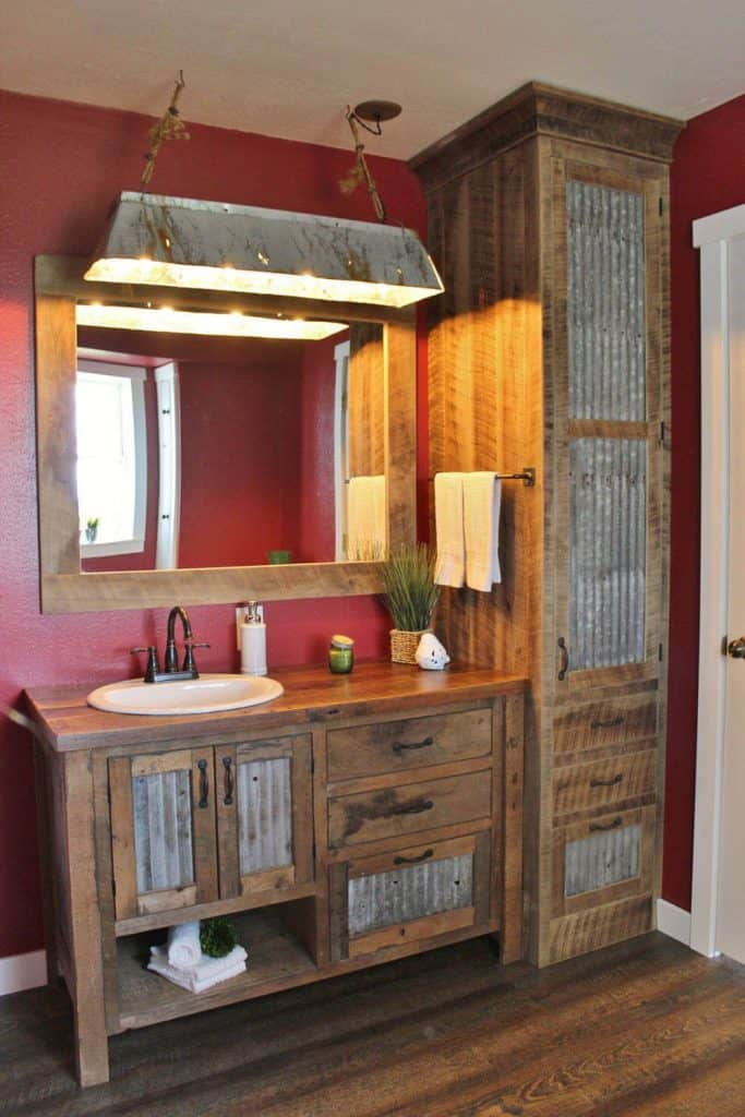 Vintage Reclaimed Barn Wood Vanity