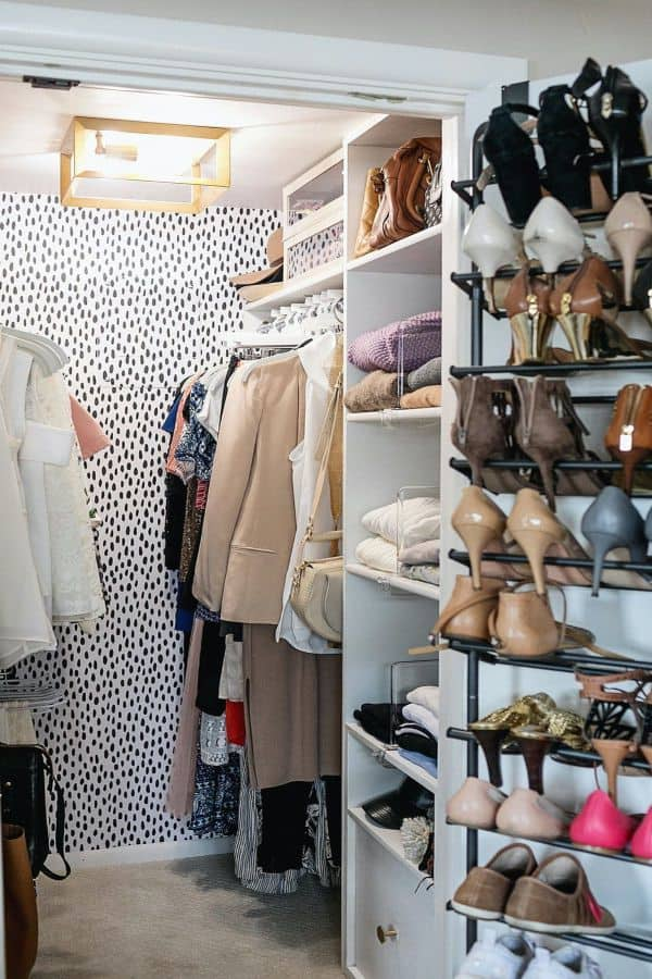 Trendy Mini Closet with Shoe Organizer (by. dianaelizabethblog.com)