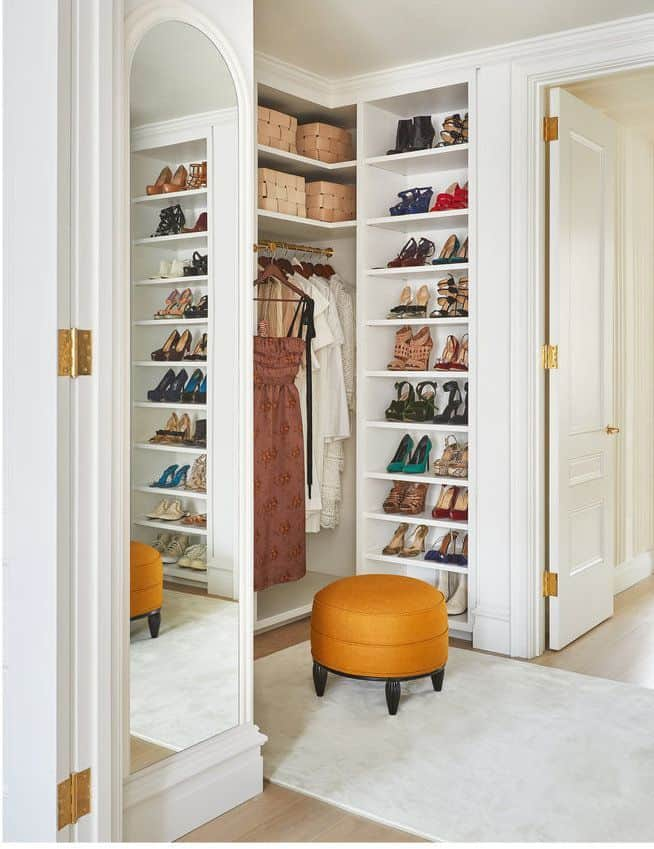Mirrored Closet with Organizing Boxes (by. housebeautiful.com)