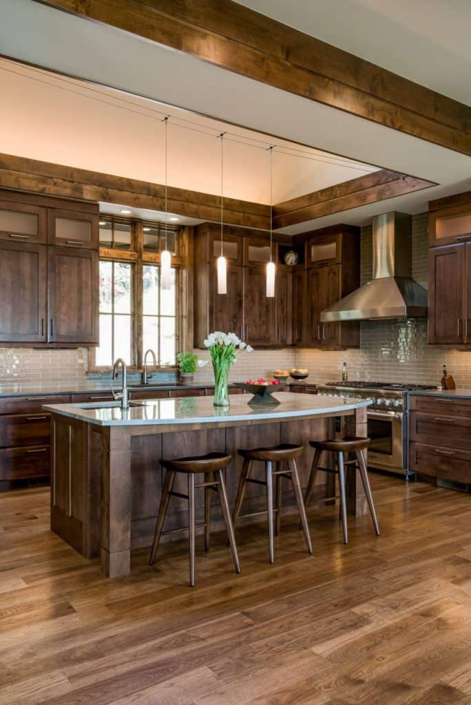 Walnut Wood for Modern Kitchen (by. allardandroberts.com)