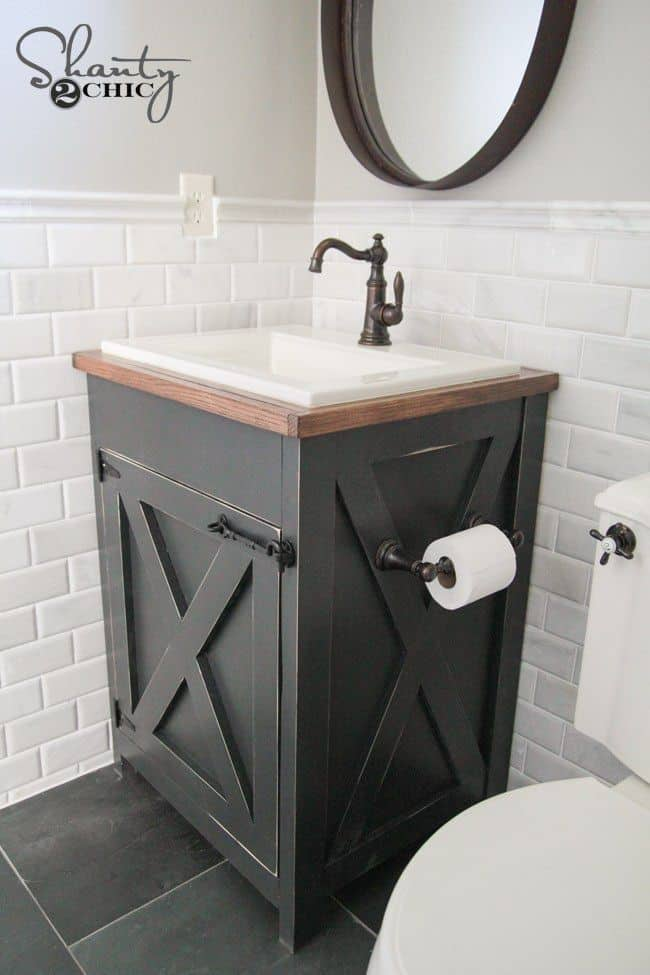 Black and White Vanity (by. shanty-2-chic.com)