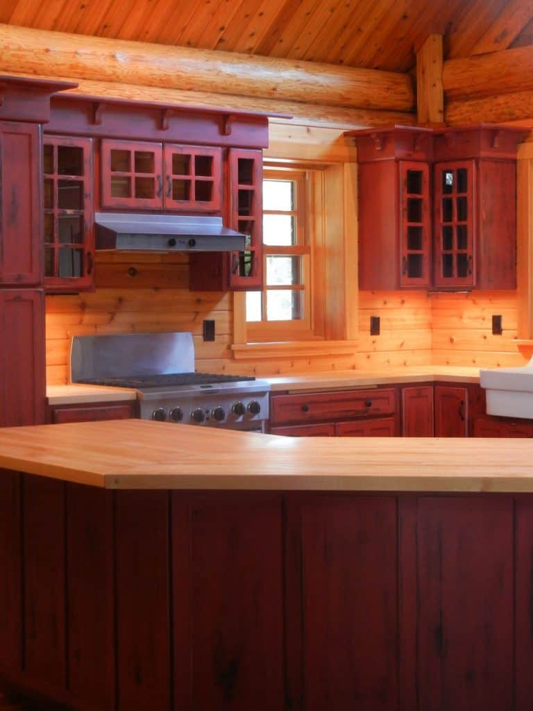 Wooden Cabinets for Holiday Lodge (by. barebonesely.com)