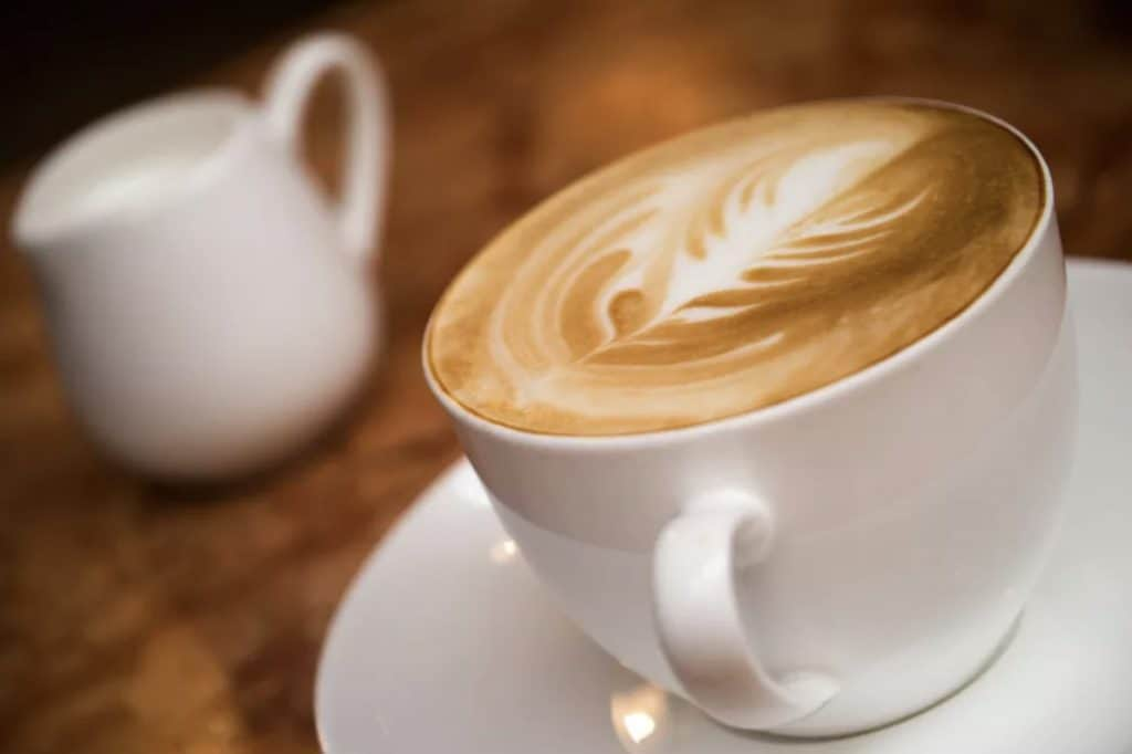 Café au lait coffee drink