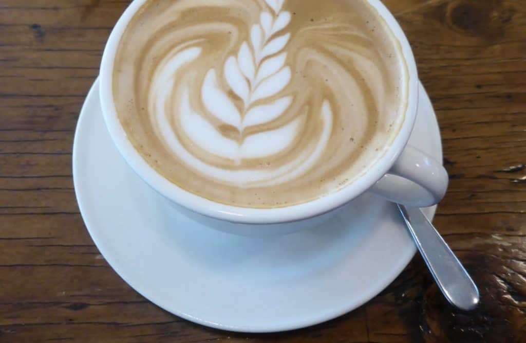 flat white coffee drink
