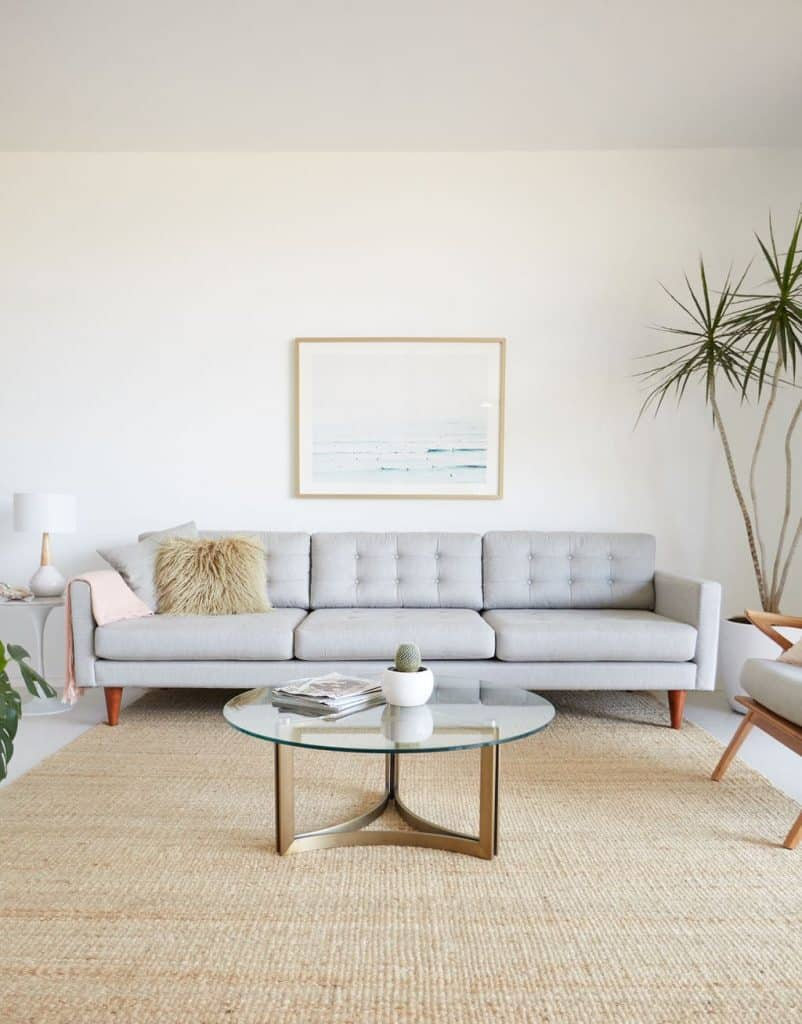 Minimalist Classic Ivory Living Room (by. bestfriendsforfrosting.com)