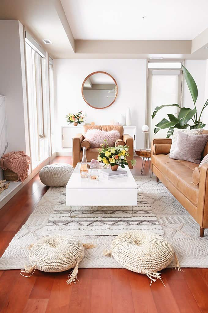 Classic Luxurious Ivory Living Room (by. justinecelina.com)