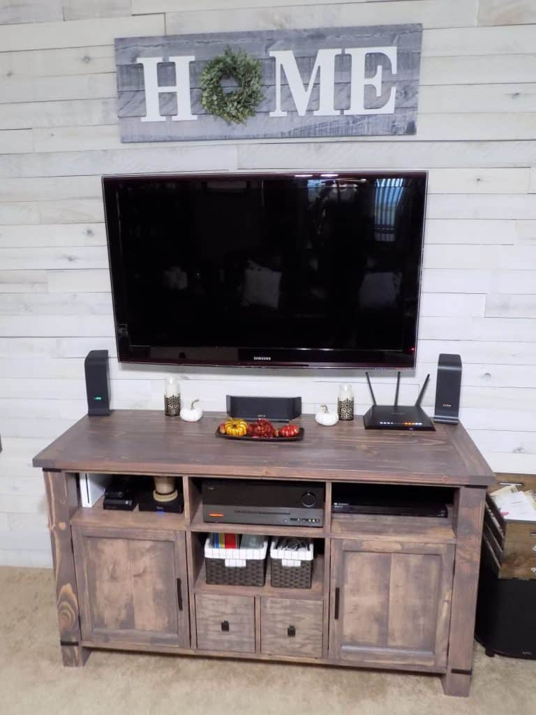 Repurposed Media Center TV Stand (by. pinspiredtodiy.com)