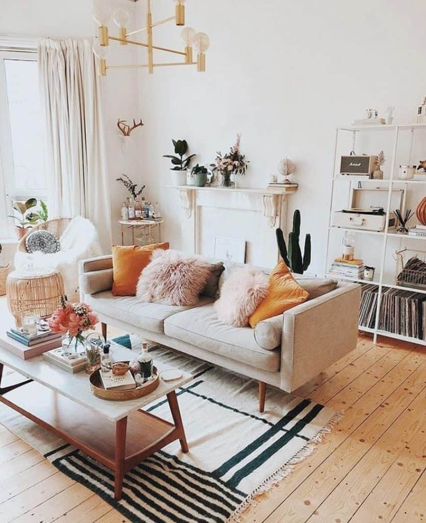 Eclectic Scandinavian Living Room (by. @eclectic_goods)