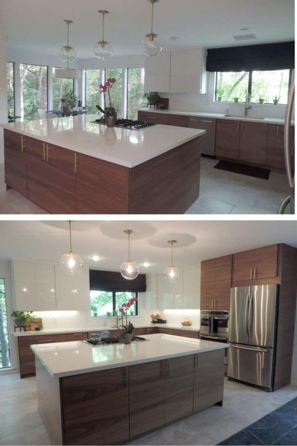 Sleek and Smooth Kitchen (by. inspiredkitchendesign.com)