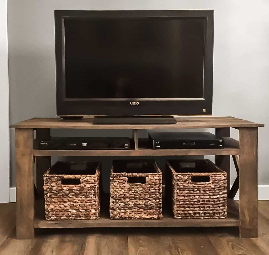 Simple Wooden TV Stand with Storage (by. etsy.com)