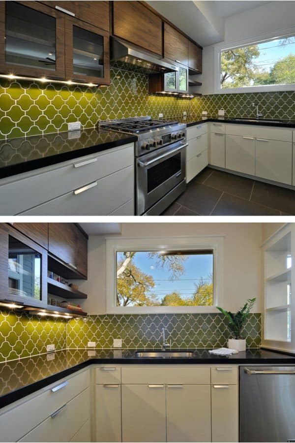 Sleek, Sophisticated Mid-Century Kitchen (by. fireclaytile.com)