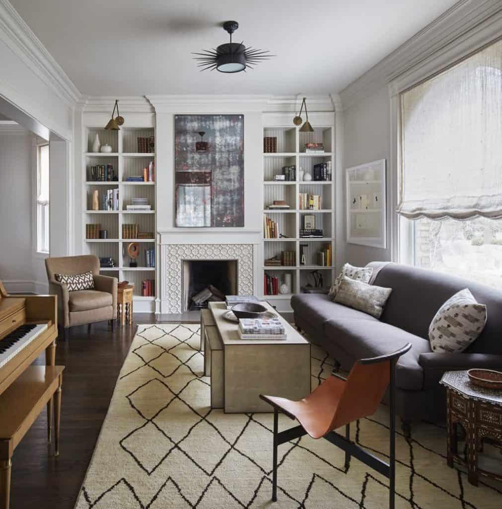 Vintage Mid-Century Modern Living Room (by. deringhall.com)