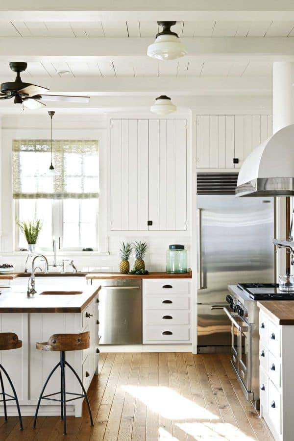 White Kitchen in Beach House (by. housebeautiful.com)