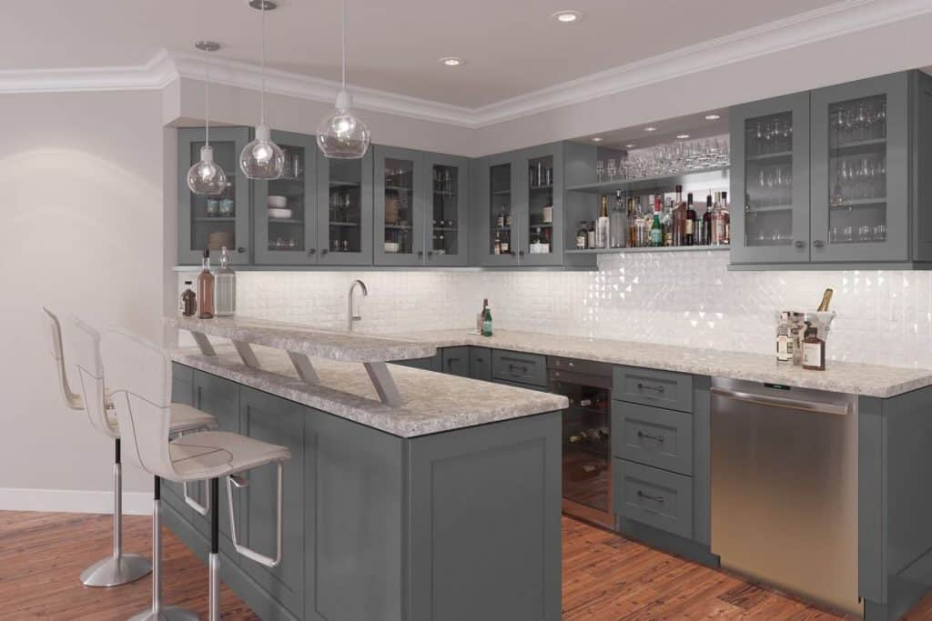 Stylish Graphite Gray Cabinets (by. thertastore.com)