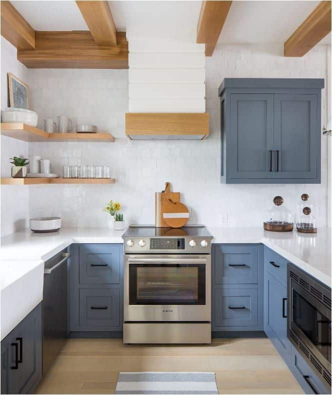 Mid-Tone Slate Blue Cabinets (by. hgtv.com)