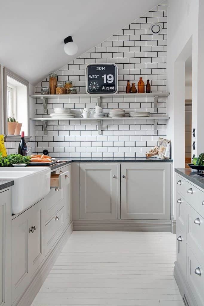 Gray Cabinets in a Small Kitchen (by. homedit.com)