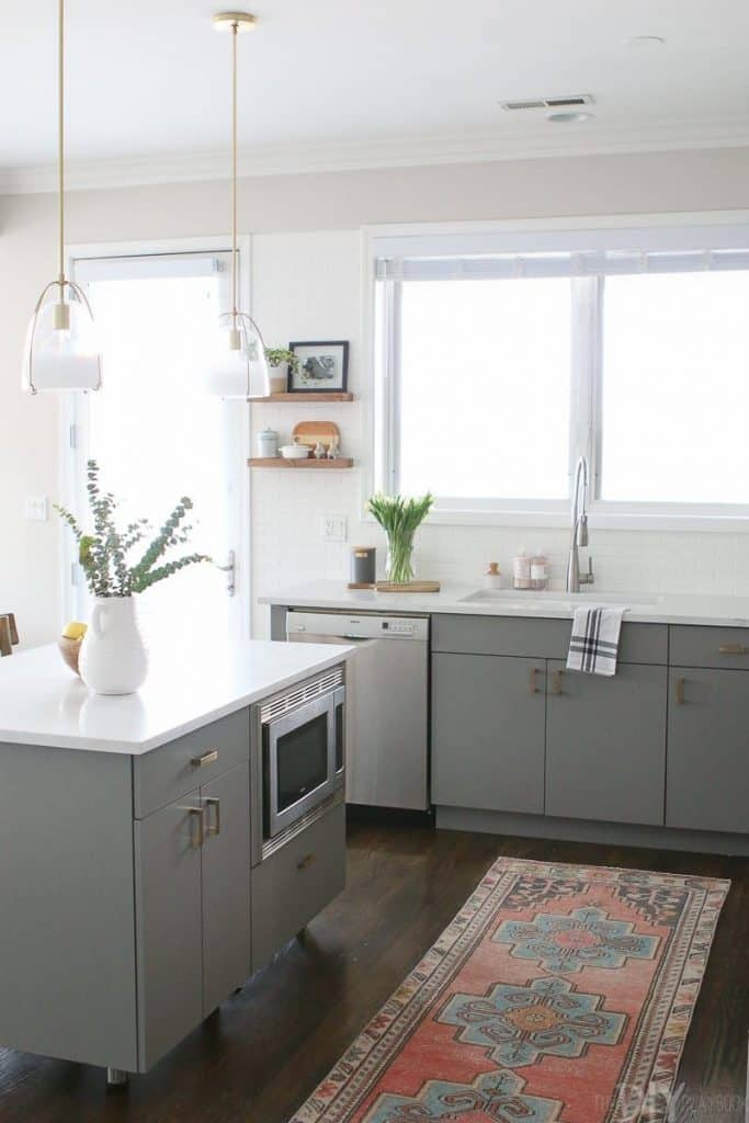 Bottom Gray Cabinets