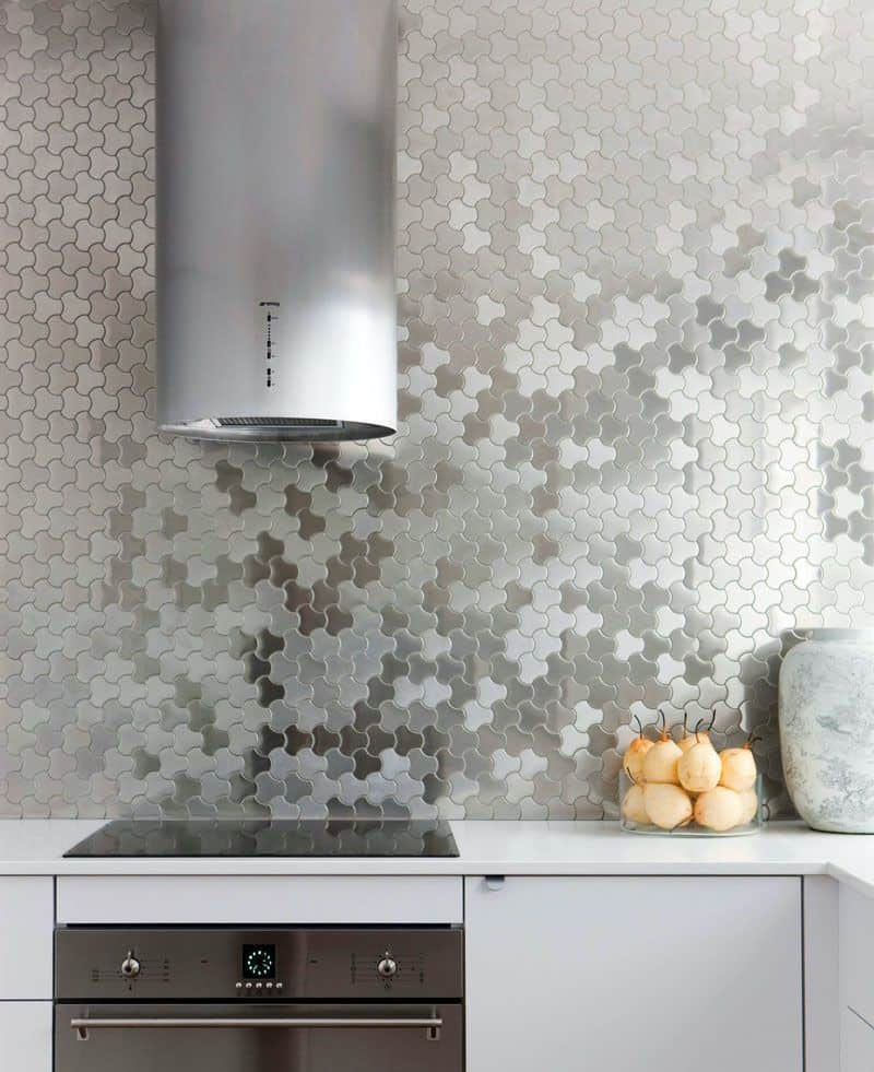Tiled Steel Backsplash (by. brendanwong.com)