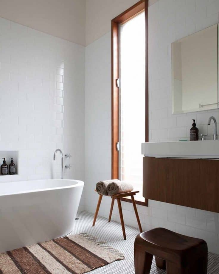 Mid-century Bathroom with Spa Corner