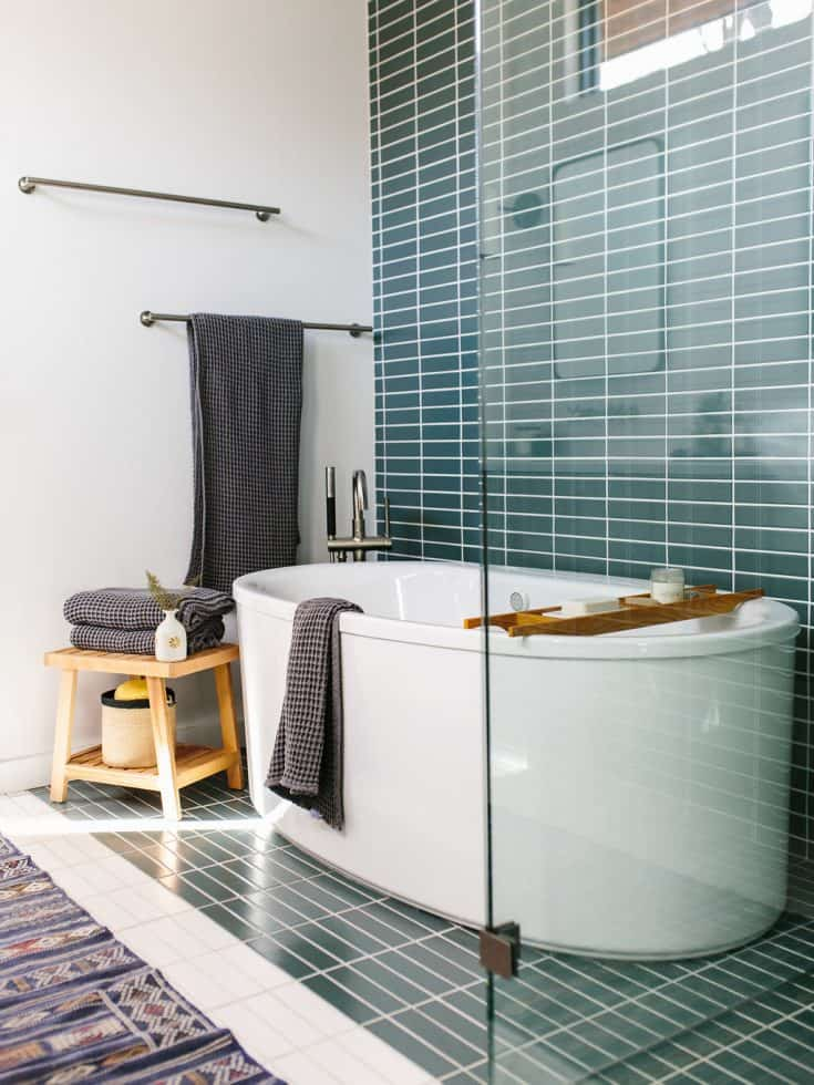 Relaxing Bathroom with Wet and Dry Areas