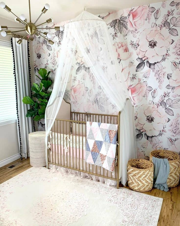 Floral Baby Girl Room